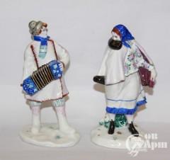"""Скульптуры парные """"Гармонист и плясунья"""""""